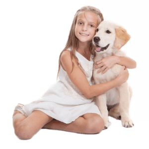 air scrubber plus - girl with dog