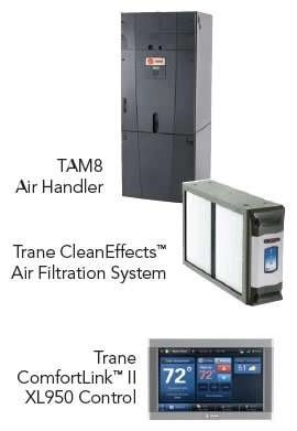 Trane XV20i - Air Handler Unit - Filtration - Thermostat