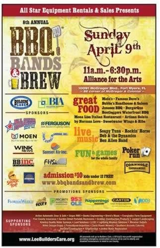 BBQ Bands and Brew - Event Poster