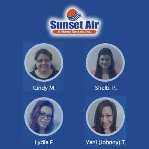 Customer Service Department Team Photo - Contact Us 24/7 - Fort Myers Florida - Sunset Air and Home Services - 239-693-9005 - 300 x 300