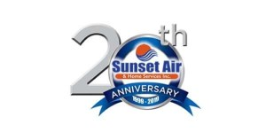 20th Anniversary Logo - Fort MyersFL - Sunset Air and Home Services - 600 x 315
