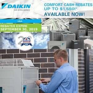 Daikin Comfort Cash Rebate Ends September 30th - Sunset Air and Home Services - Fort Myers FL - 239-693-9005 - 300 x 300.jpg