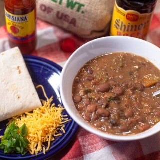Cowboy Beans - Slow food as comfort food. Easy to make and freezes well. Ideal side dish for BBQ, Fried Chicken or Mexican food.