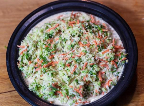 dish of jalapeno cole slaw