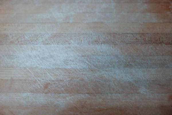 lightly floured wooden cutting board