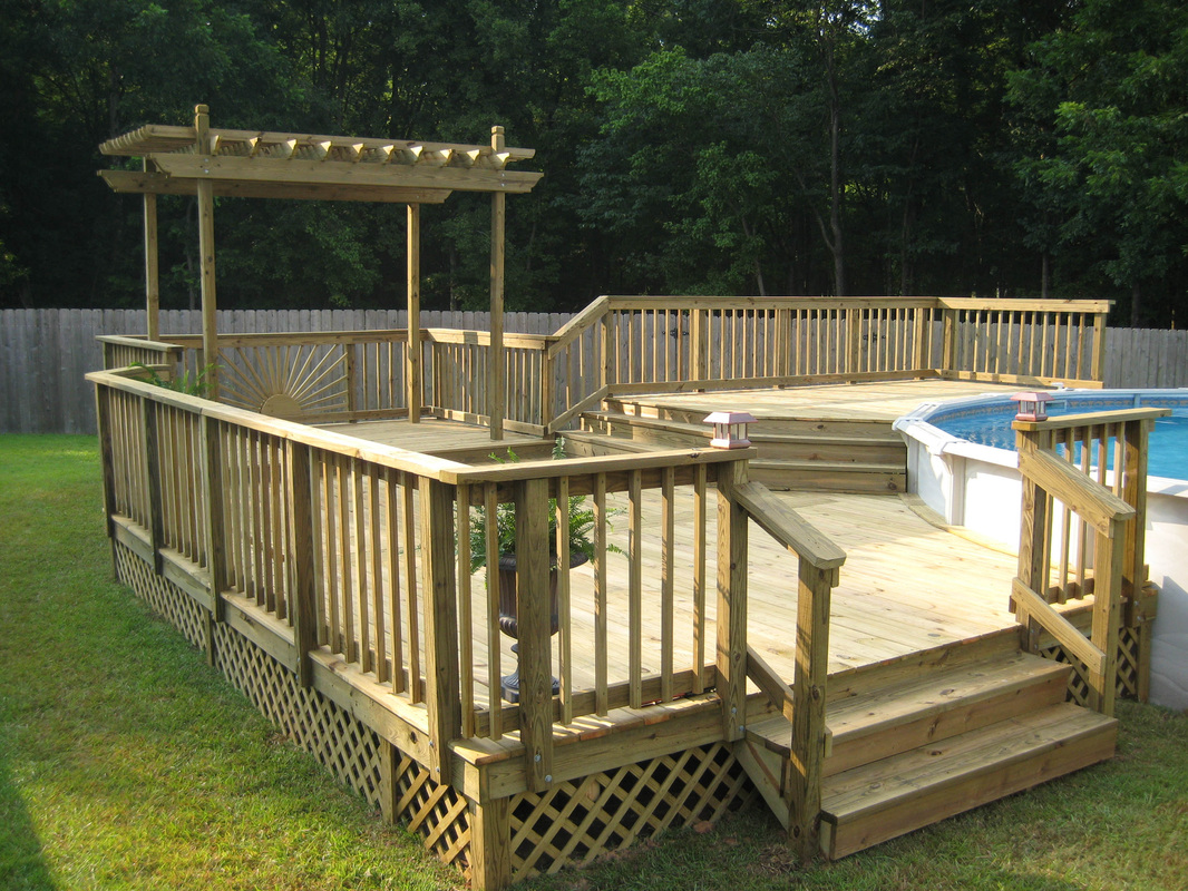 Above Ground Pool Deck Kits Wood
