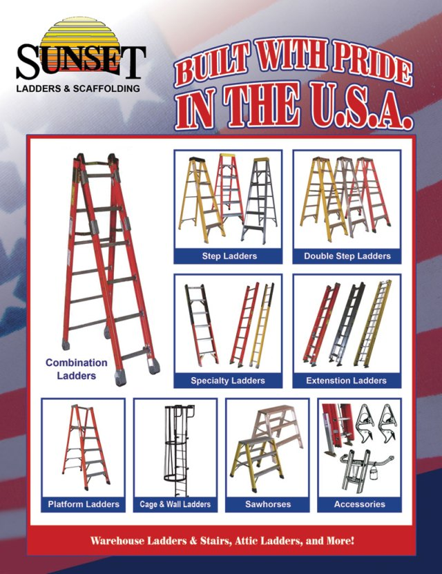 sunset ladders are the only ladders made in america today