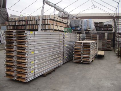 sunset ladder south el monte scaffold planks in warehouse