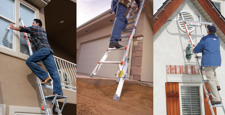 Extension Ladder Accessories Like The Ladder Leveler, Work Platform, Wall  Stand Off,