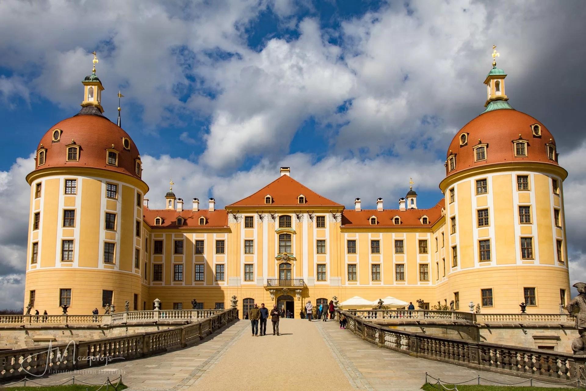 Entryway to castle Moritzburg