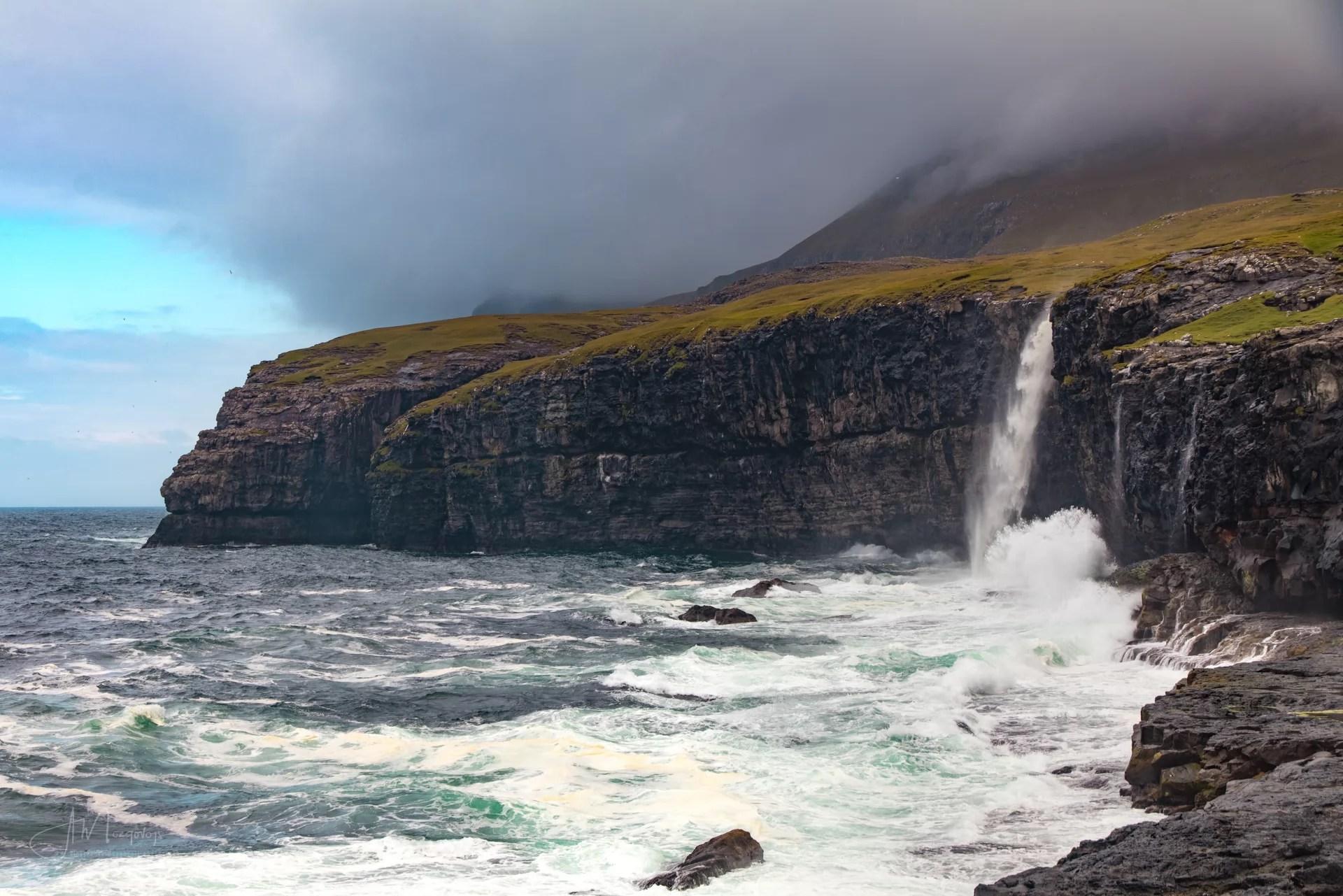 Eiði waterfall