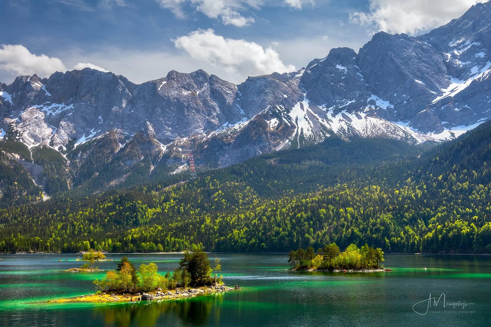 View of lake Eibsee