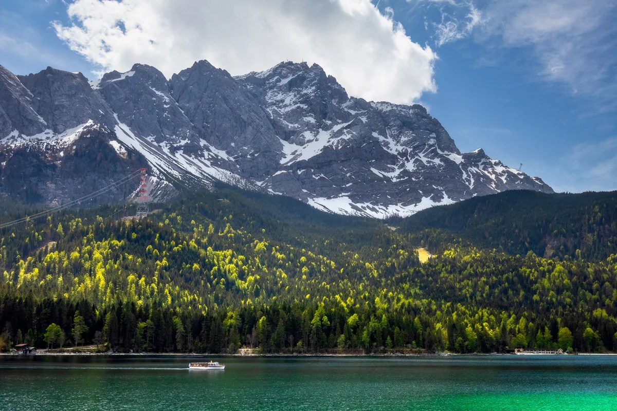 Summer Day at lake Eibsee