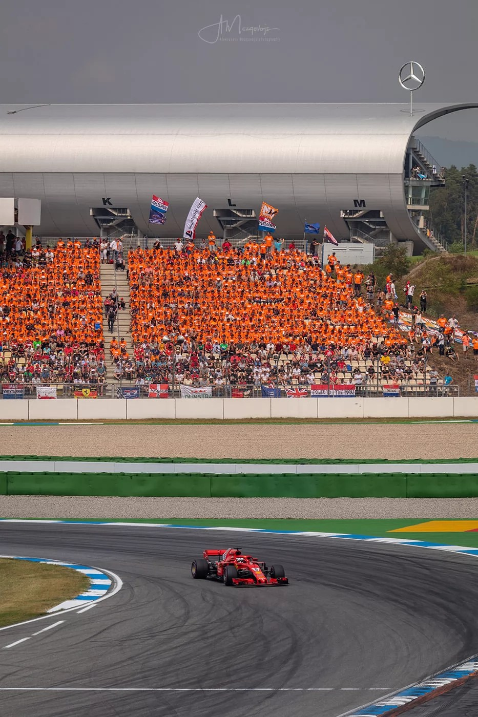 Vettel in front of the Home Crowd