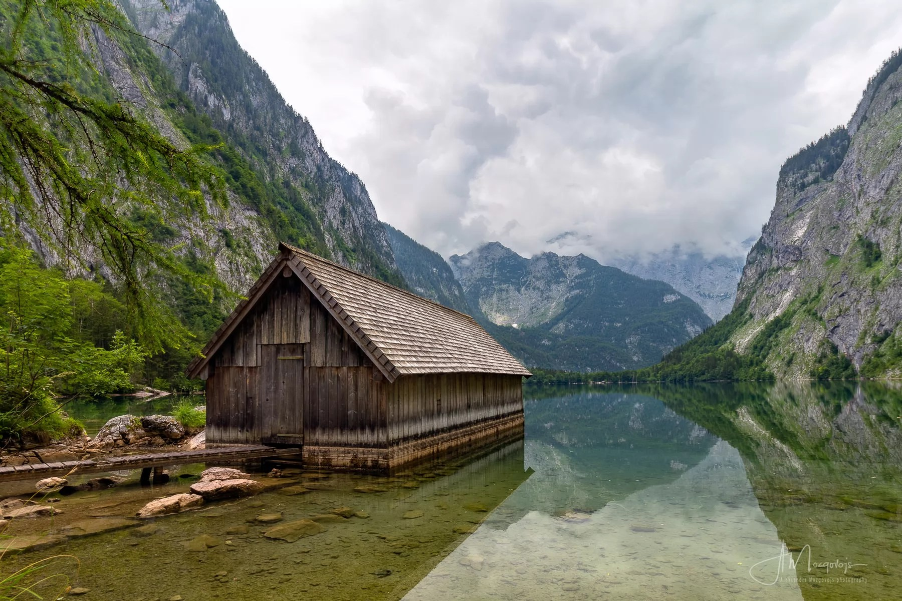 View over Obersee from the second boathouse
