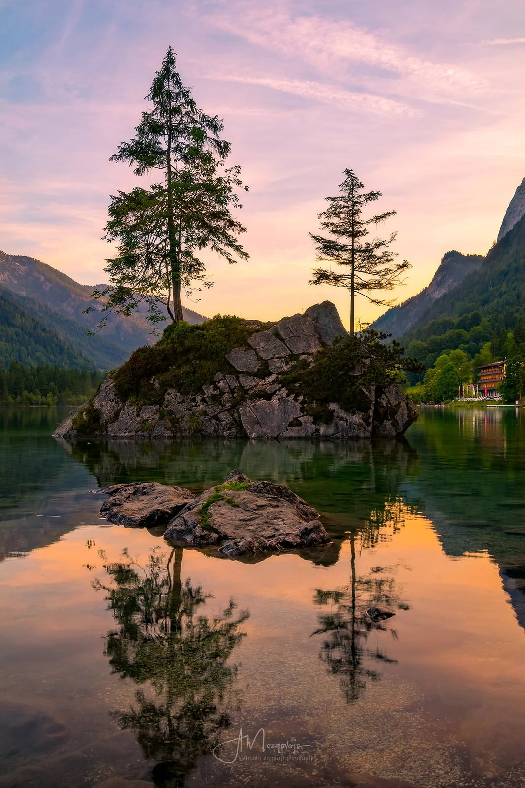 Hintersee at Sunset