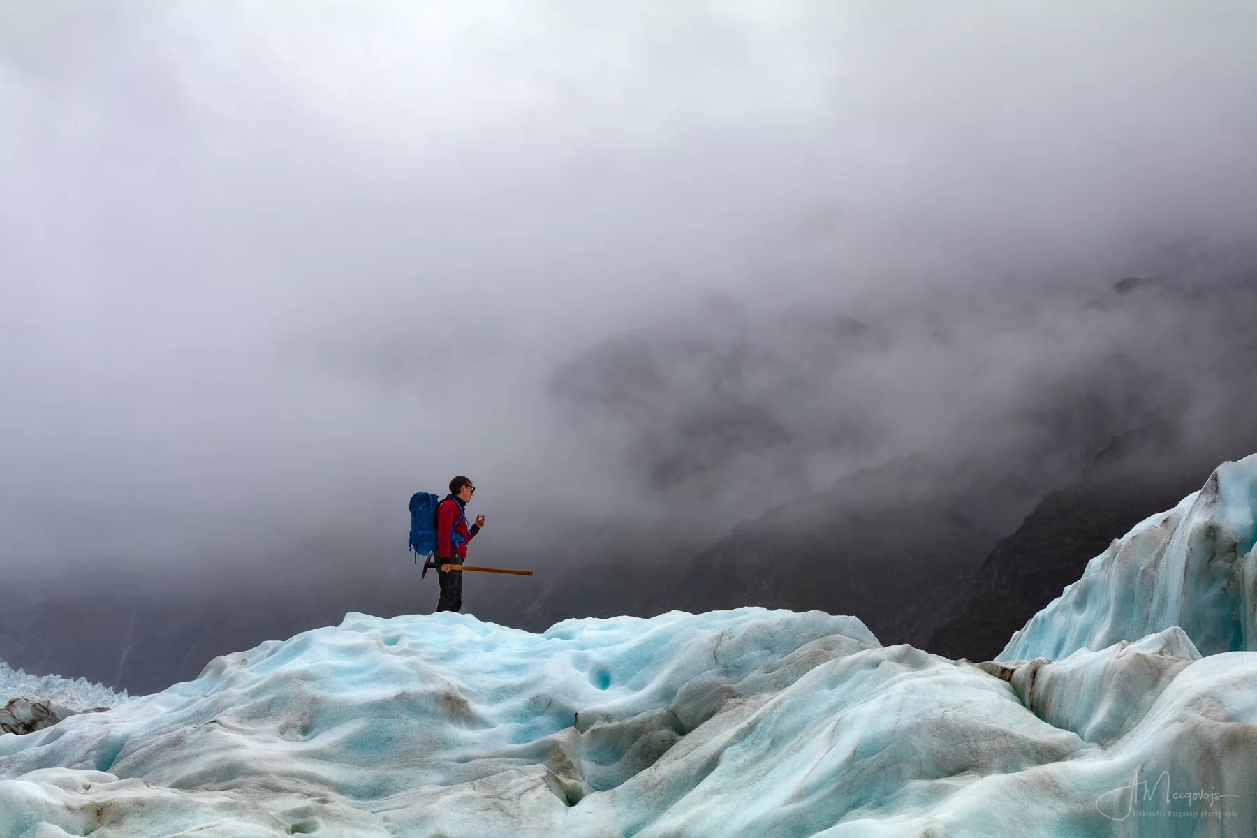 Walking on Ice at Fox Glacier