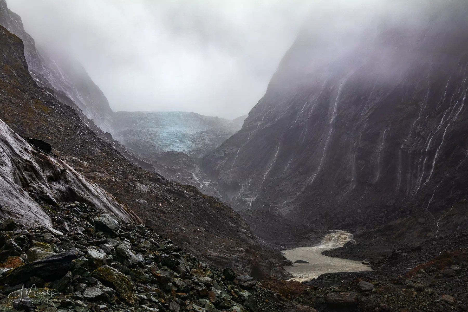 View from the end of the Franz Josef Glacier walk