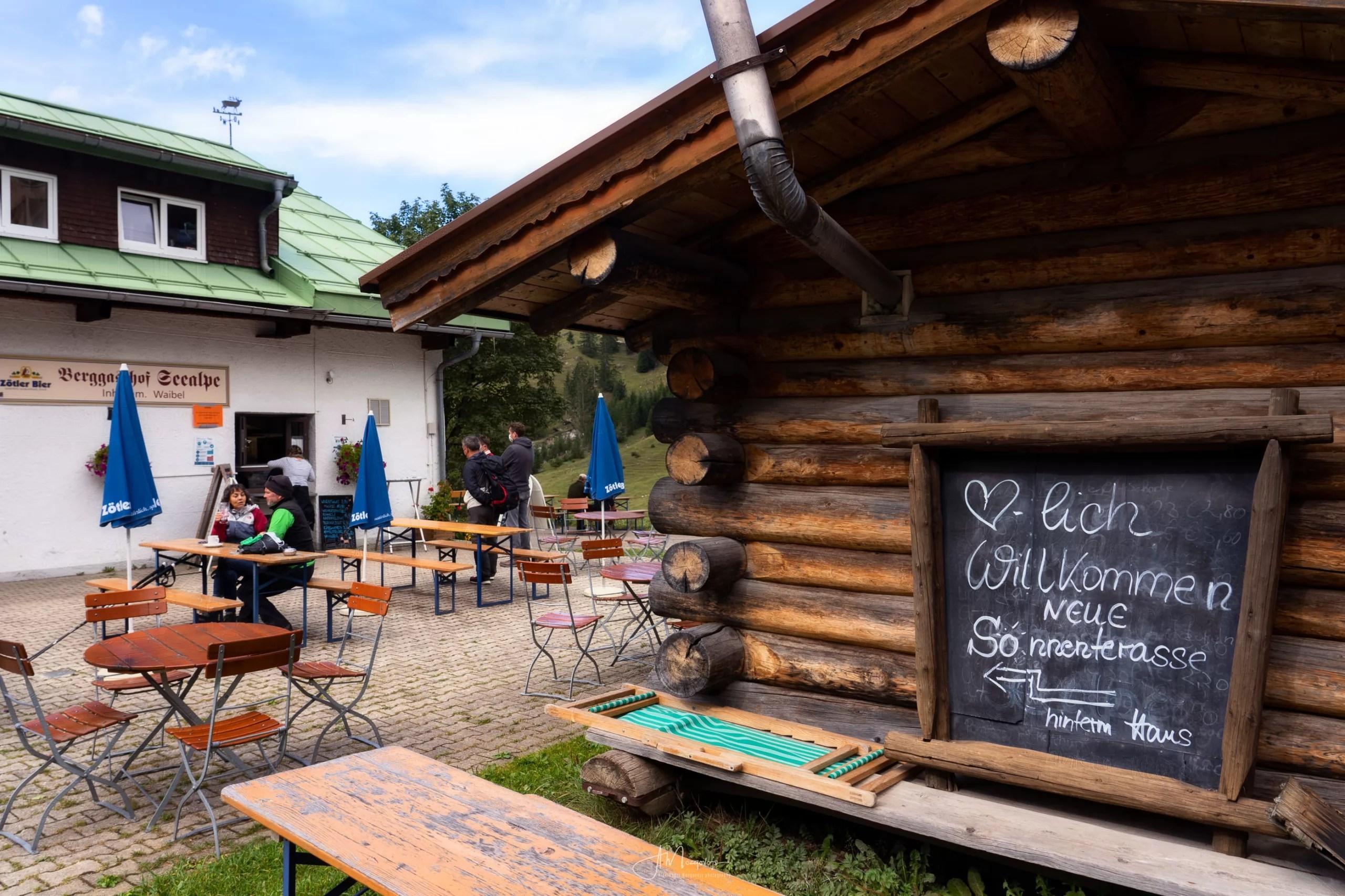Beer garden at Berggasthof Seealpe