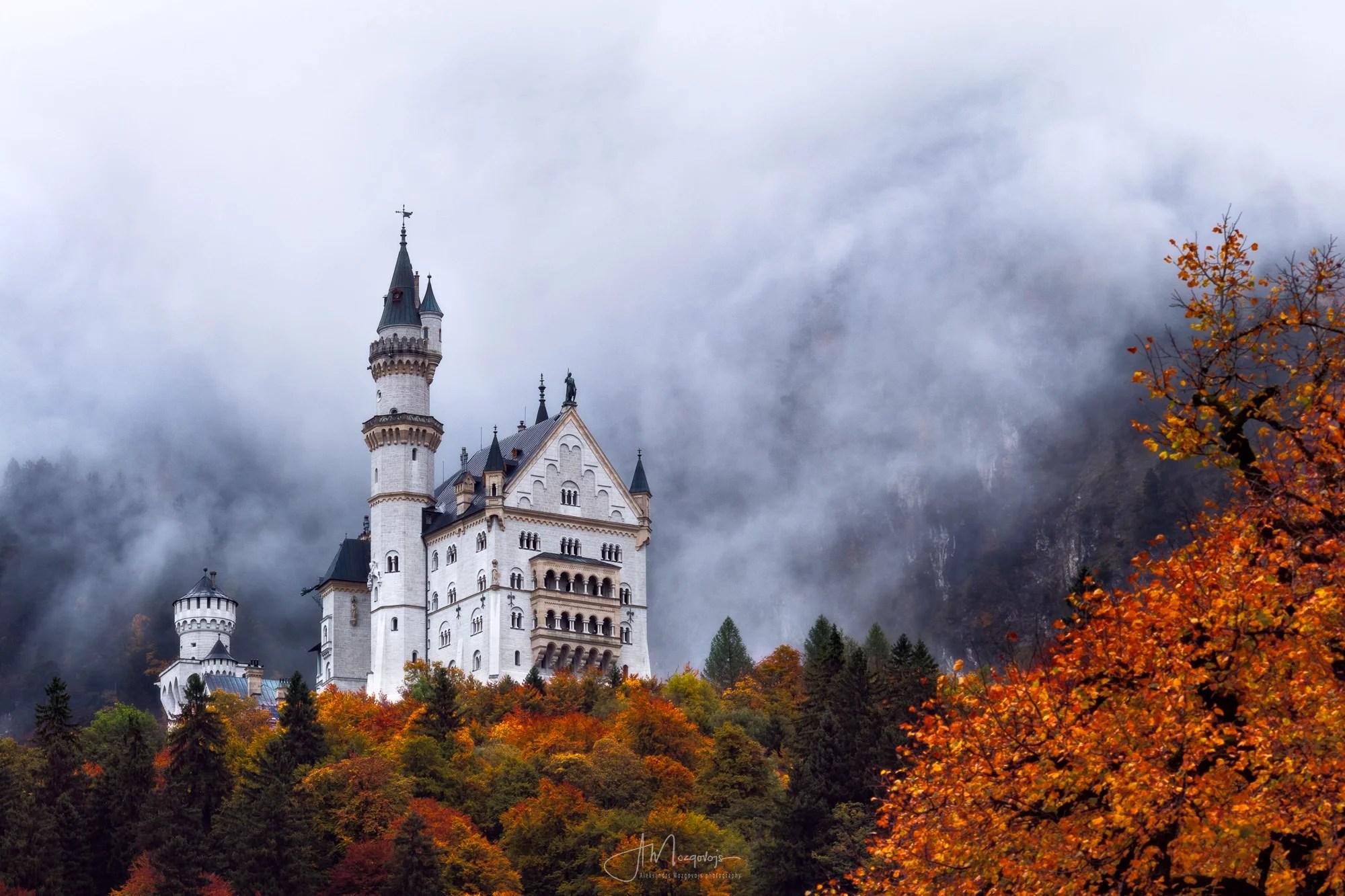 Fog over Castle Neuschwanstein