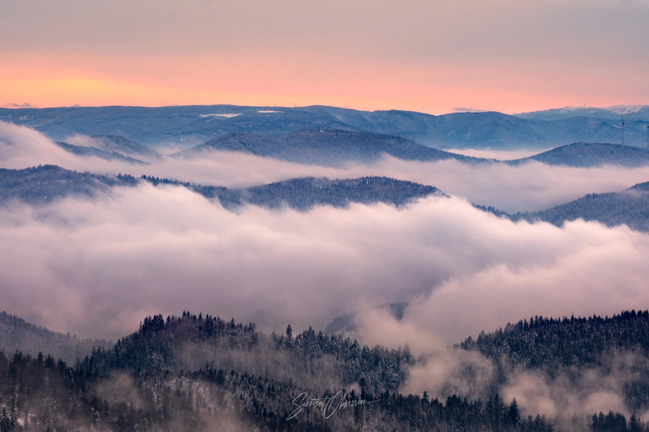 Cloud Inversion over Black Forest, Germany