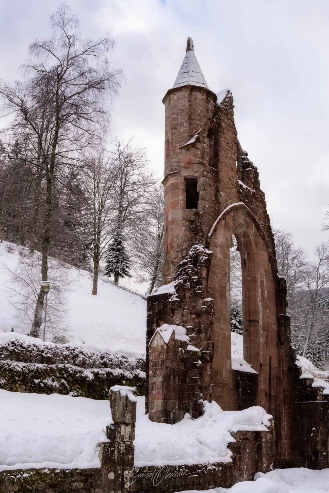 The ruins of the medieval tower in Black Forest, Germany