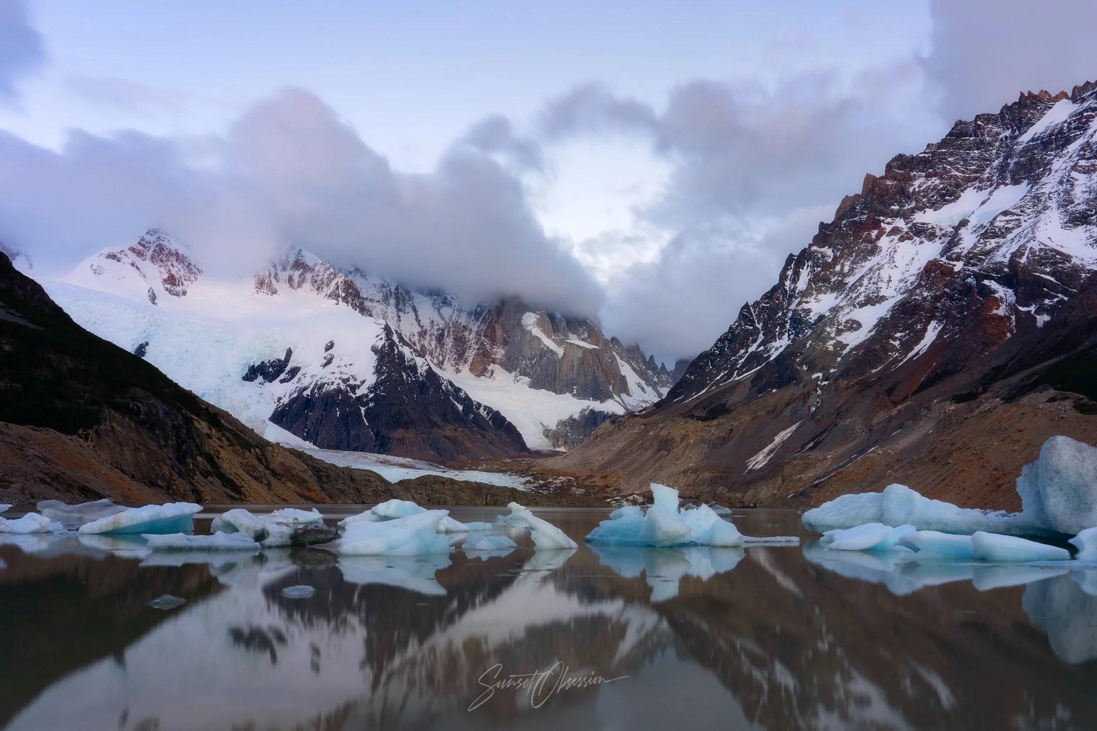 Laguna Torre before dawn, Argentinean Patagonia