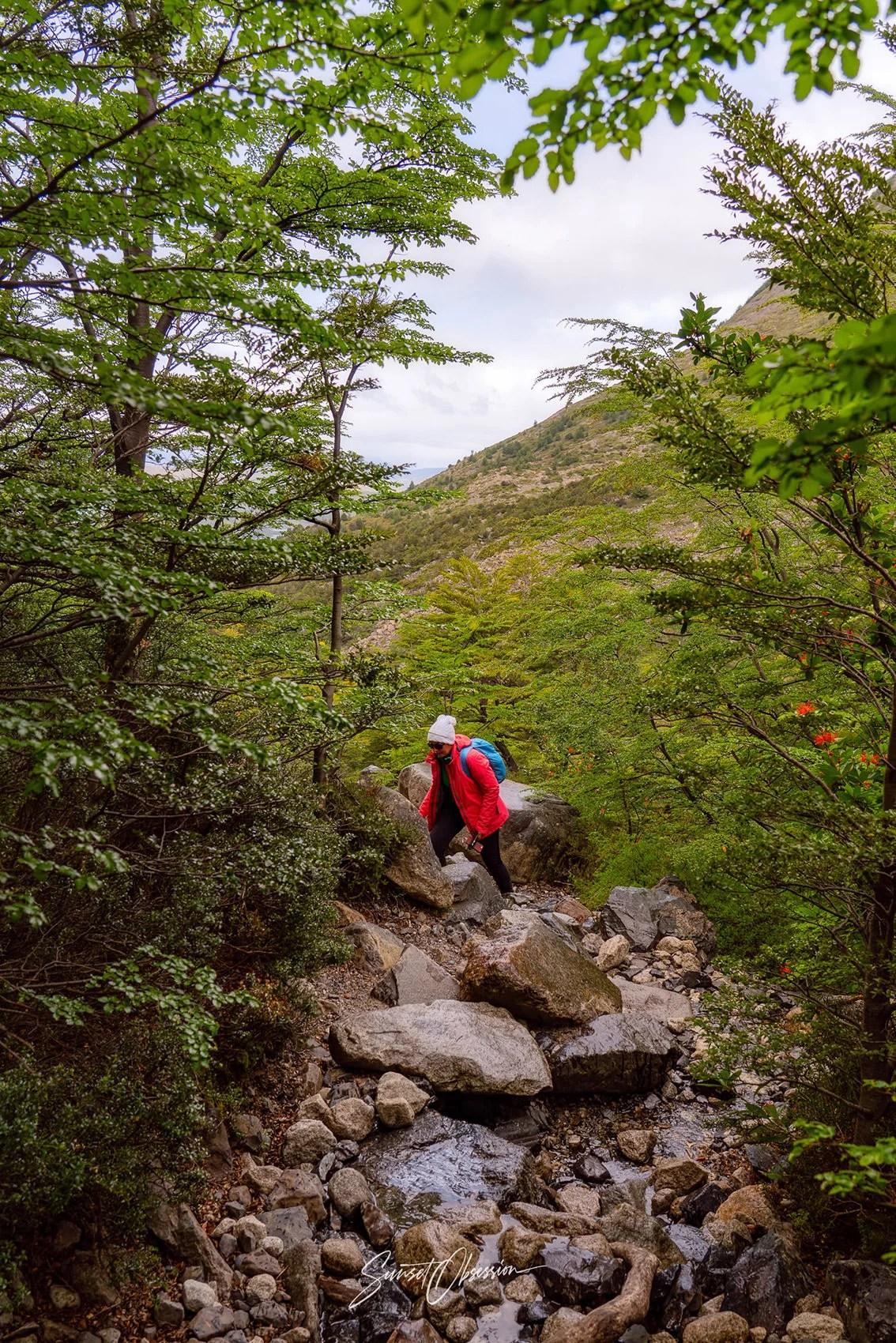 Французская Долина за день - подъём к площадке Valle del Francés