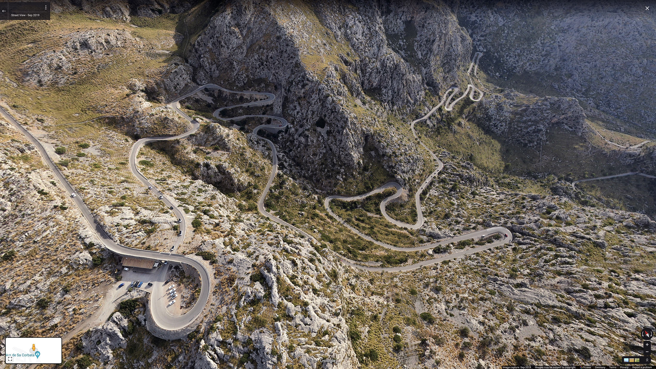 Twists and turns of the road to Sa Calobra