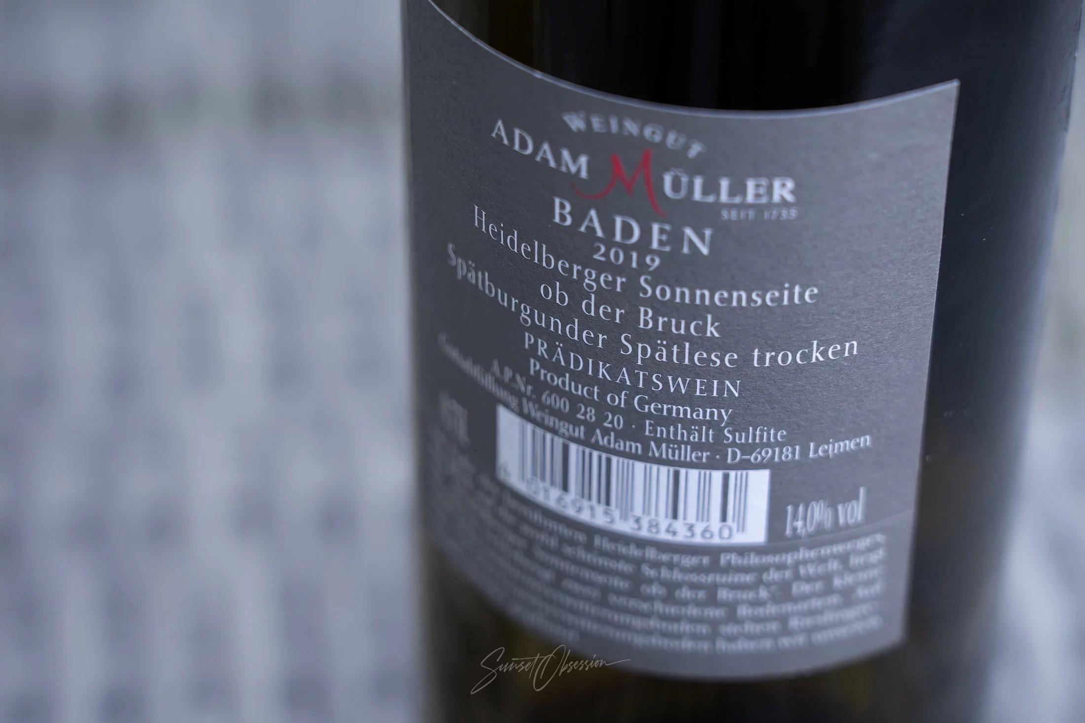 Немецкое вино предикат Spätlese (поздний сбор) из Гейдельберга