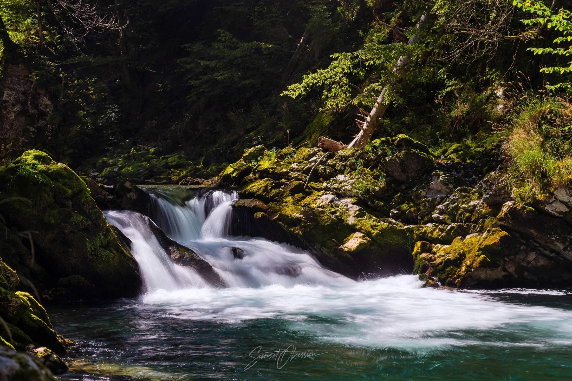 River Cascades in Vintgar Gorge, Slovenia