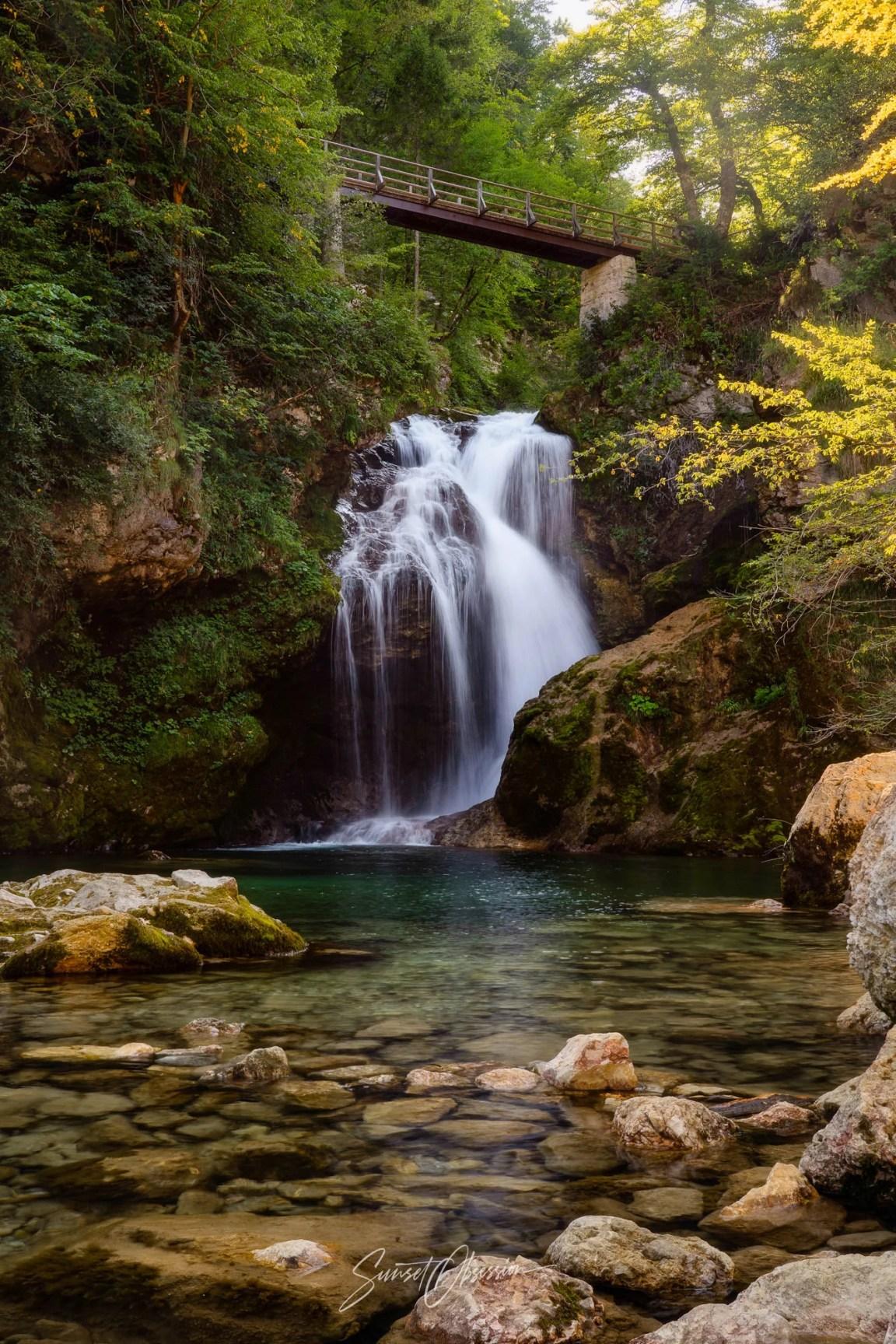 Šum Waterfall in Vintgar Gorge, Slovenia