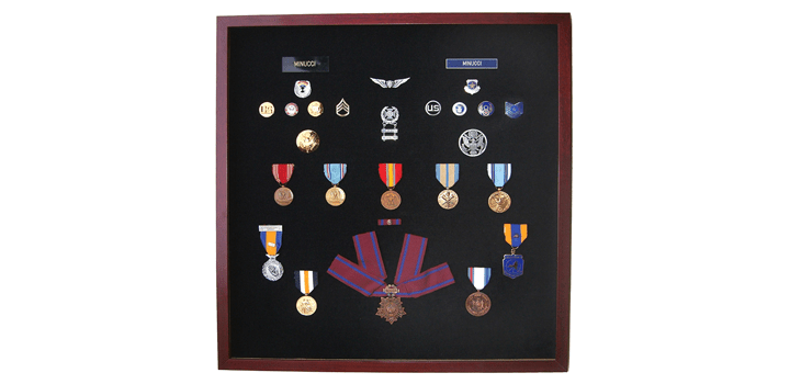 shadow box to preserve military honors
