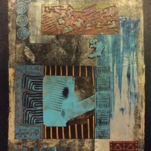 Artist Sharon DiGiulio, Summer Heat, acrylic collage