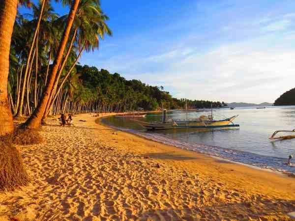 Sunset at Corong Corong Beach El Nido Palawan