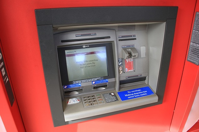 ATM machine where they take your money