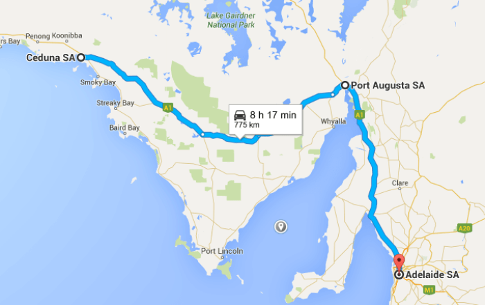 Ceduna -> Port Augusta -> Adelaide - Perth To Melbourne Road Trip - Things to see on Perth to Melbourne road trip.