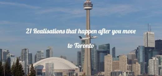 moving to toronto realisations