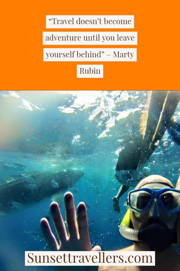 """""""Travel doesn't become adventure until you lose yourself"""" - Travel quote from Marty Rubin."""