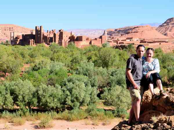 Heather and Peter in Morocco top travel bloggers