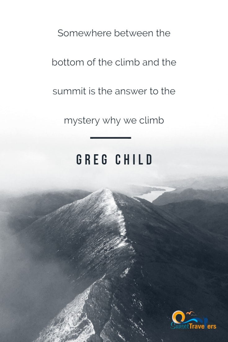 Mountain Quotes about achieving your goals