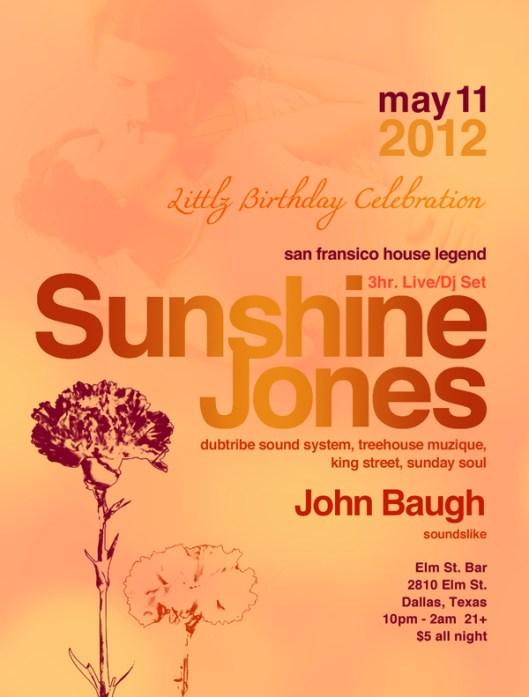 Sunshine Jones at Elm Street Bar