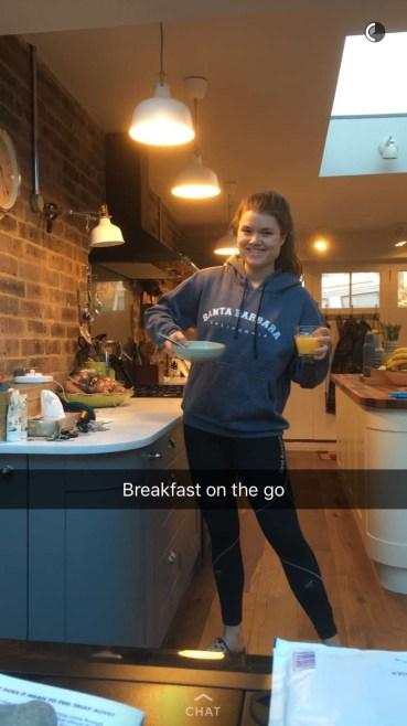 Breakfast of champions!