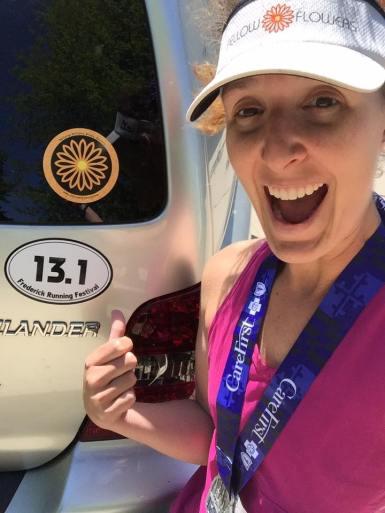 1st 1/2 marathon - I earned that magnet!
