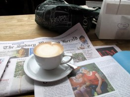 Organic coffee with organic soy milk