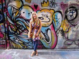 Kirst exploring Melbourne's alleyways.