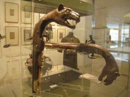 Highly ornate pistols in the Islamic Arts Museum, Kuala Lumpur