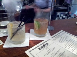 Herbed gin and tonic, house-made spiced rum.