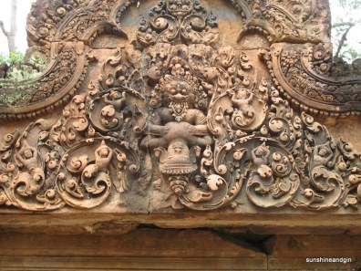 Banteay Srei, the most 'feminine' of the temples.