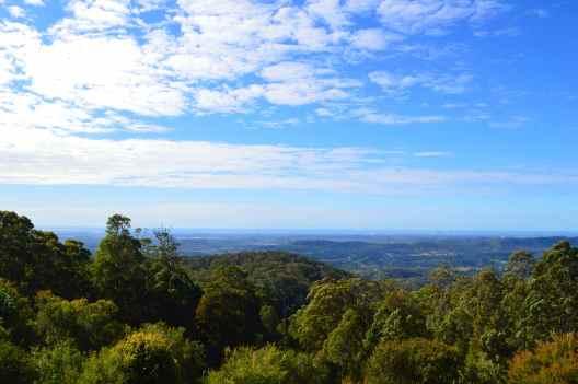 View of the coast from Mount Tamborine